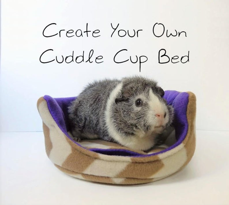 Cuddle Cup DIY Guinea Pig Bed Plans from Squiggly Pigs
