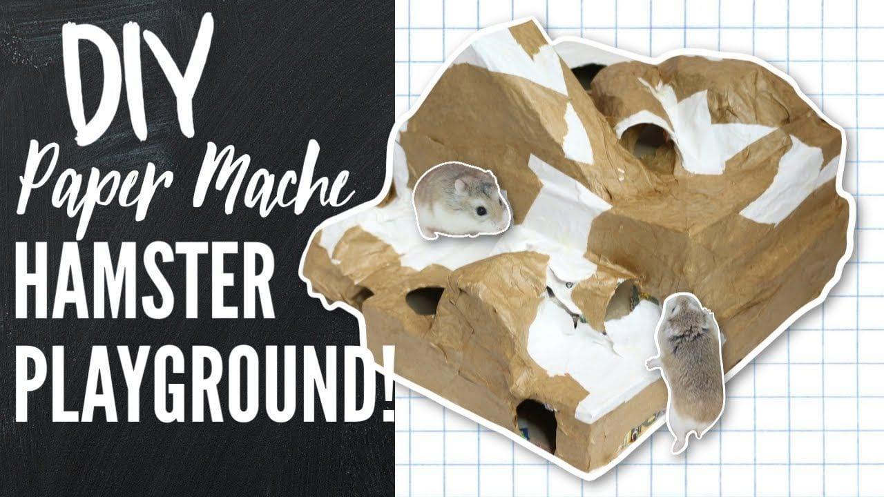 DIY Paper Mache Hamster Playground by Victoria Raechel