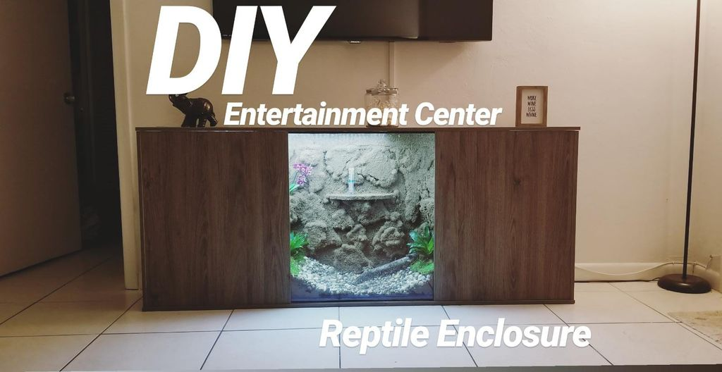 Entertainment Center DIY Reptile Enclosure Plans from Instructables