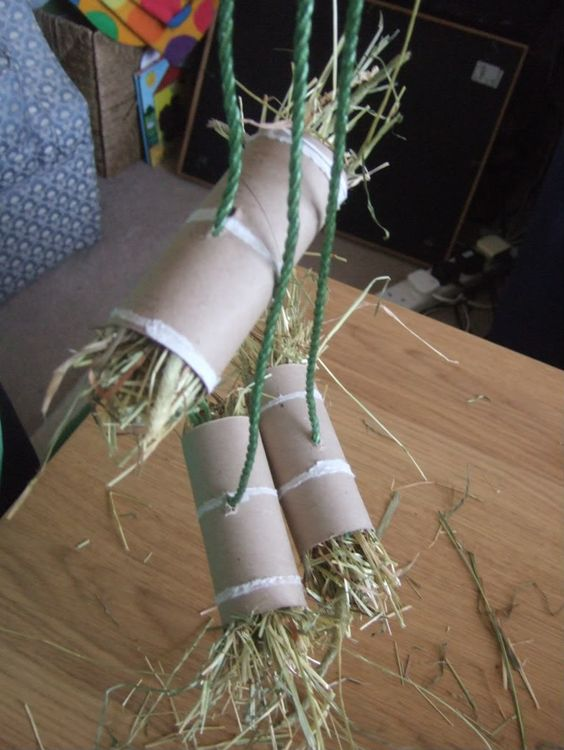 Hay Tube DIY Chinchilla Toy Plans from Rabbits United
