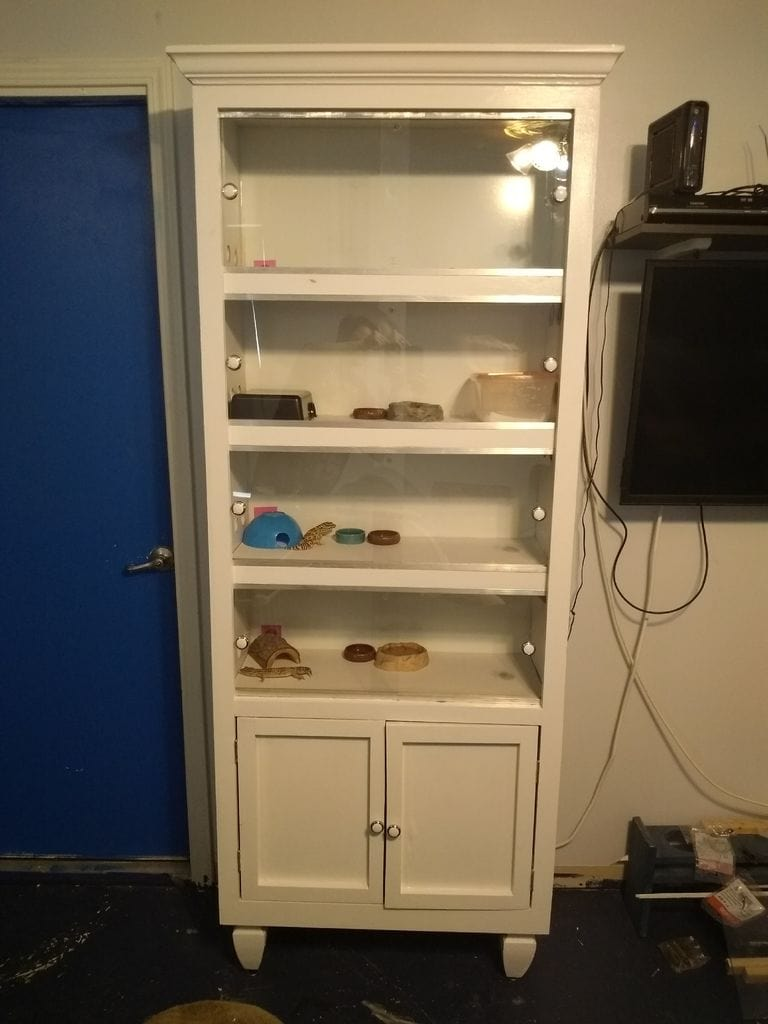 Upcycled Bookshelf DIY Reptile Enclosure from Instructables