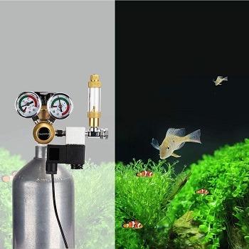 Aquarium CO2 Regulator with 12 DC Solenoid-Big Dual Gauge