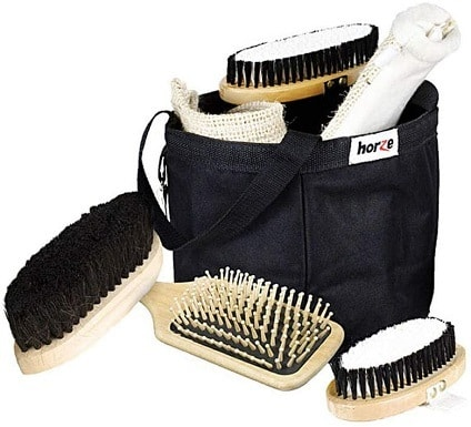 Horze Wooden Grooming Tools and Tote