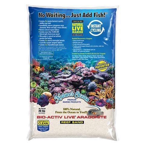 Nature's Ocean Bio-Activ Live Aragonite Aquarium Sand