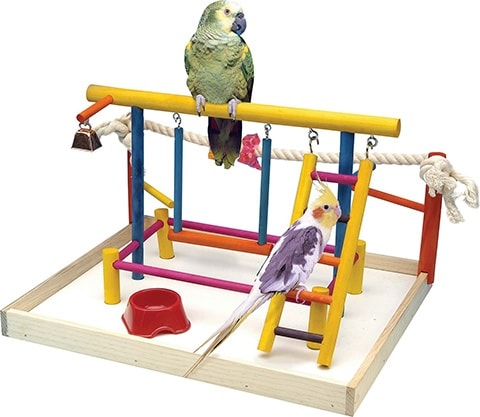 Penn-Plax Birds Wood Playpen