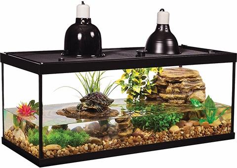 Tetrafauna Aquatic Turtle Deluxe Aquarium