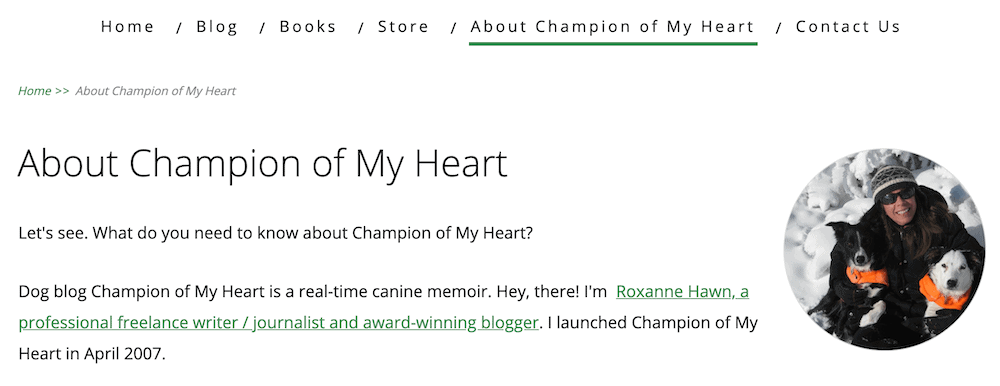 Champion of My Heart pet blog