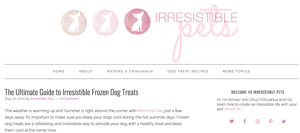 Irresistible Pets pet blog