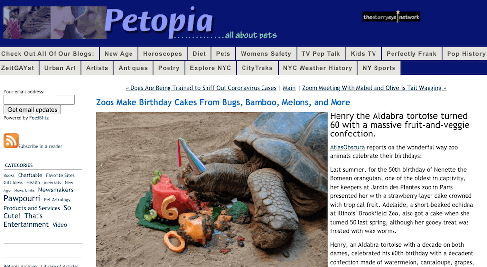 Petopia pet blog
