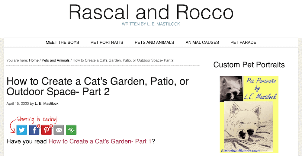 Rascall and Rocco pet blog