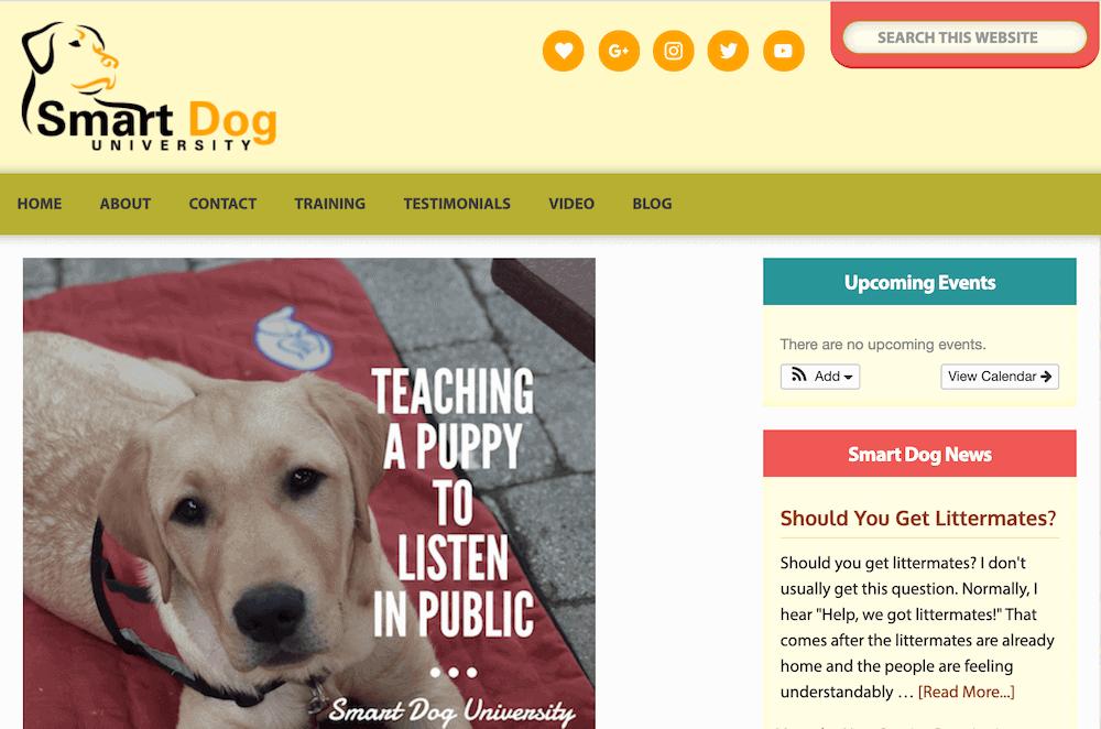 Smart Dog University blog