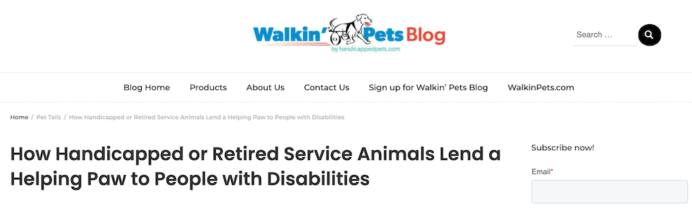 Walkin' Pets blog