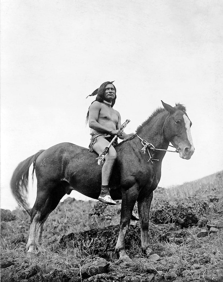 warrior with horse