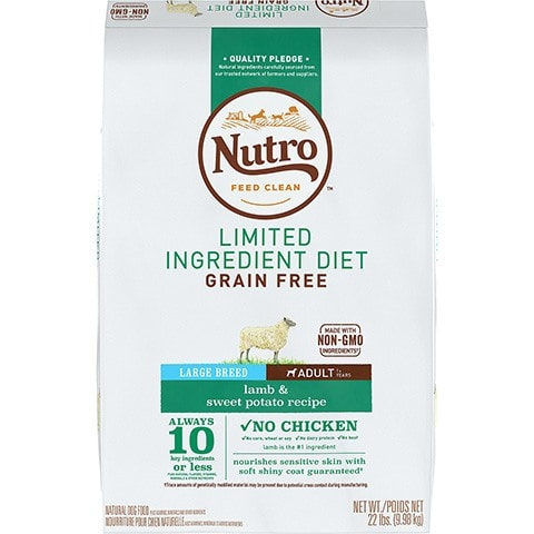 Nutro Limited Ingredient Diet Grain-Free Adult Large Breed Lamb & Sweet Potato Recipe Dry Dog Food