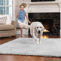 GORILLA GRIP Original Faux Chinchilla Area Rug