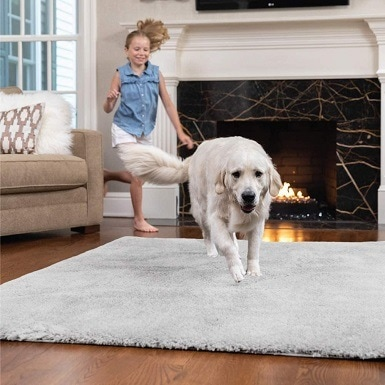 1GORILLA GRIP Original Faux-Chinchilla Area Rug