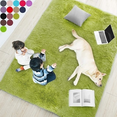 2Grass Green Soft Rug for Bedroom