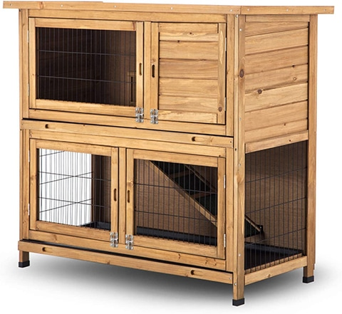 Lovupet 6010-1029 Wooden Bunny Cage