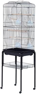 """PawHut 63"""" Metal Indoor Bird Cage"""