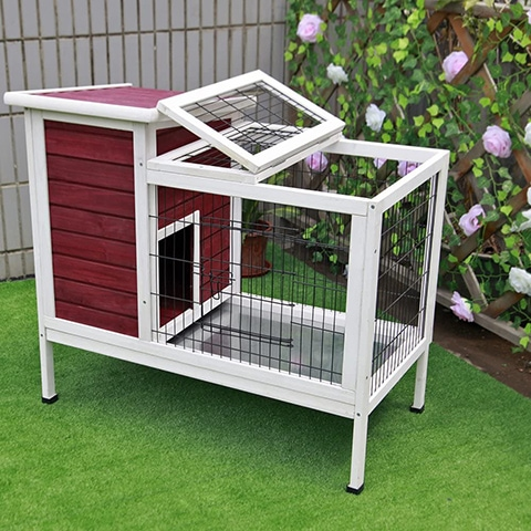 Petsfit Wood-Rabbit Cage