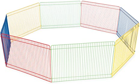 Prevue Pet Products Multi-Color Small Animal Playpen-100px