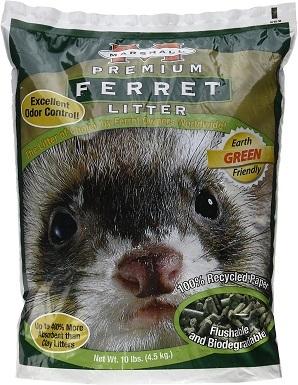 Marshall Premium Odor Control Ferret Litter, 10-lb bag