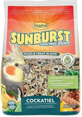 Higgins Sunburst Gourmet Blend Cockatiel Bird Food