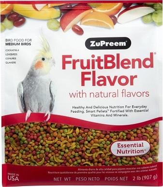 ZuPreem FruitBlend Bird Food