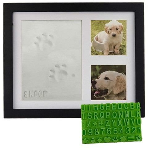 Baby Mushroom Ultimate Pawprint Keepsake Wooden Photo Frame