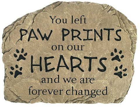Carson Industries Paw Prints On Our Hearts Sand Stone