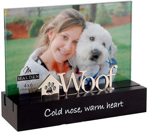 Malden International Designs Desktop Expressions Woof Dog Picture Frame
