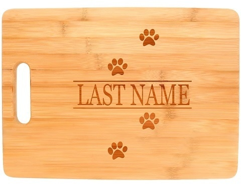 Personalized Gifts Big Rectangle Bamboo Cutting Board