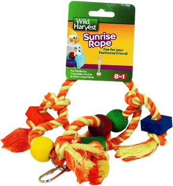 Wild Harvest Sunrise Rope Bird Toy