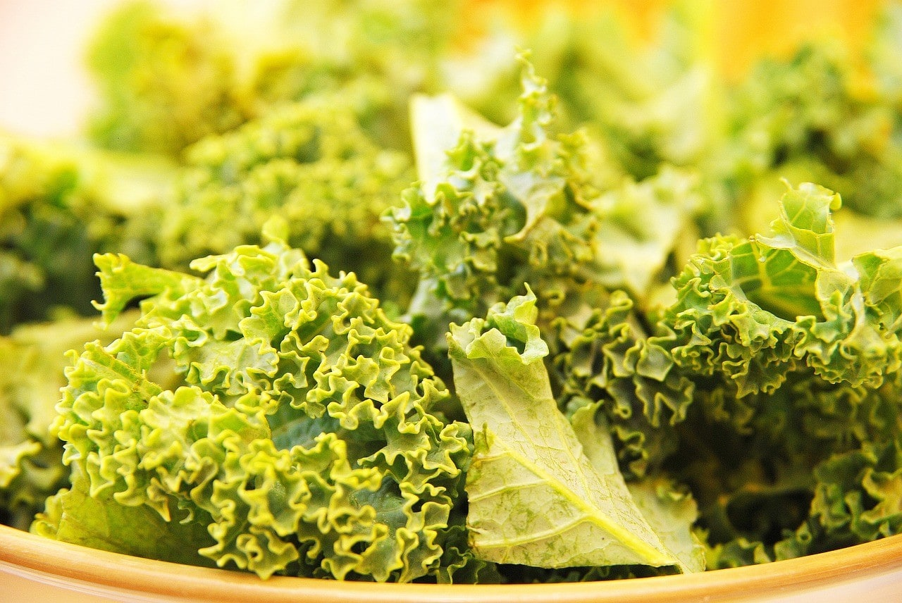 a bowl of kale