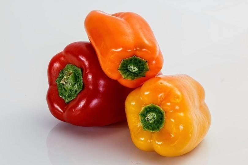 bell peppers closeup