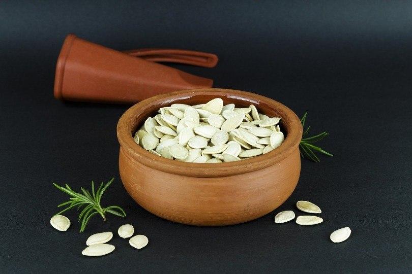 pumpkin seeds in a pot