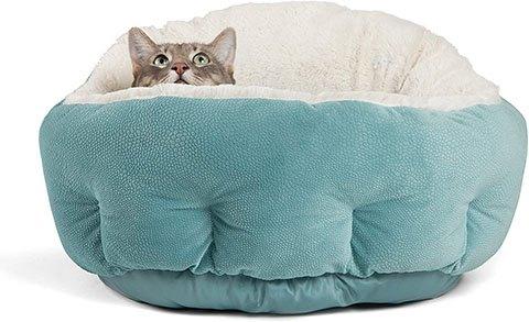 Best Friends by Sheri Self Warming Cat Bed
