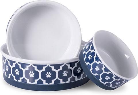 Bone Dry Lattice Ceramic Dog and Cat Bowl