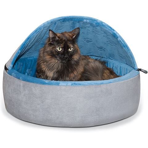 K&H Pet Products Self-Warming Hooded Cat Bed