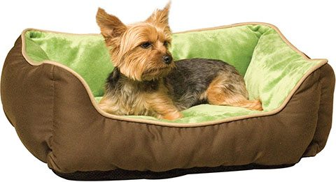 K&H Pet Products Self-Warming Two Tone Lounge Sleeper Bolster Cat & Dog Bed