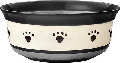 PetRageous Designs Metro Oval Ceramic Dog & Cat Dish