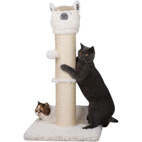 PutnPurr Tall Alpaca Cat Scratching Post