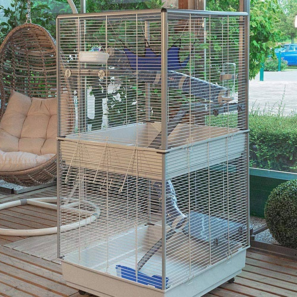 actual photo of Ferplast Tower Two-Story Ferret Cage
