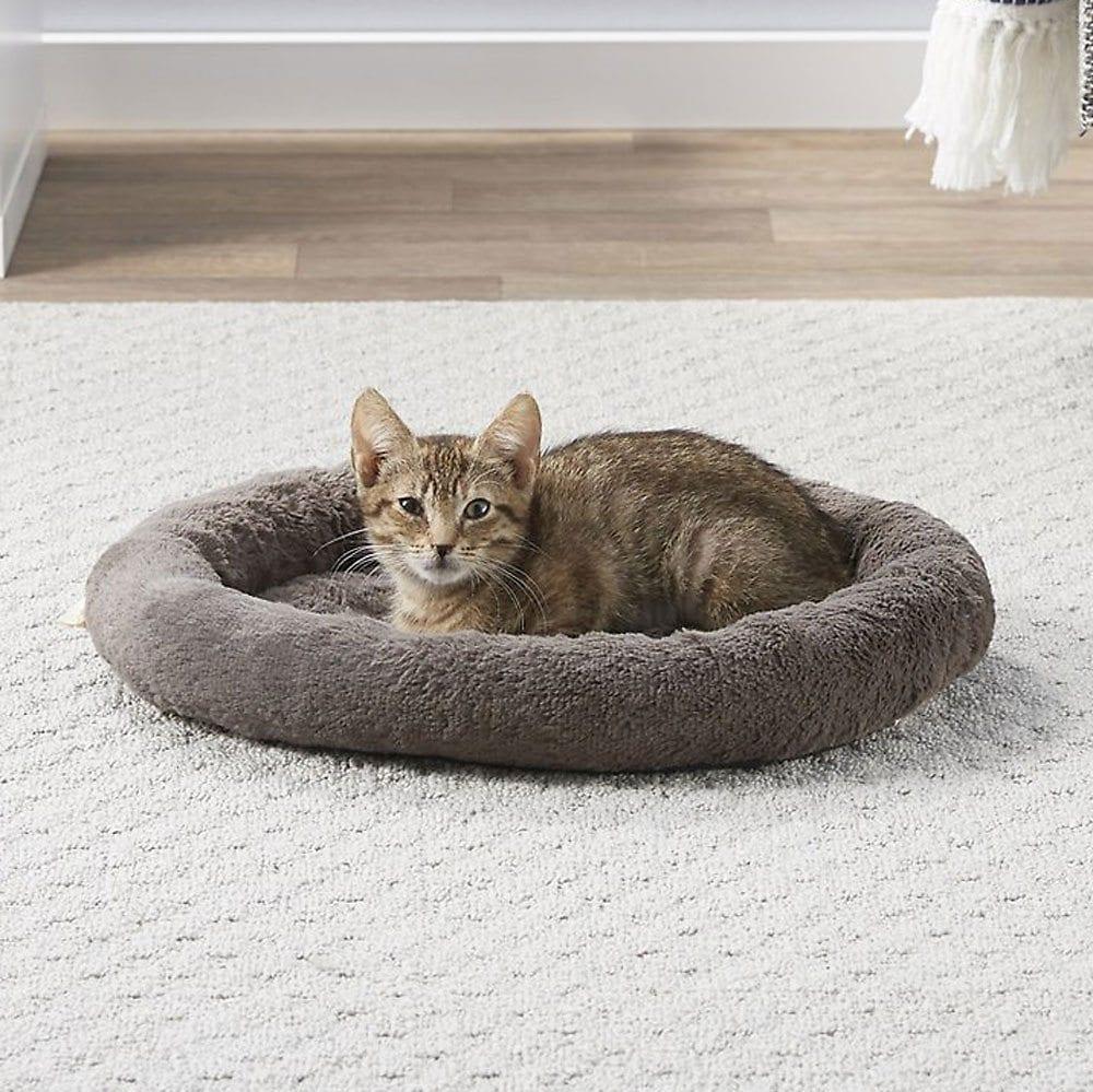 फ्रिस्को सेल्फ वार्मिंग बोल्स्टर में बिल्ली गोल बिल्ली बिस्तर