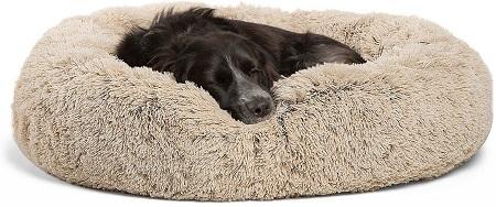 1Best Friends by Sheri The Original Calming Shag Fur Donut Cuddler Cat & Dog Bed