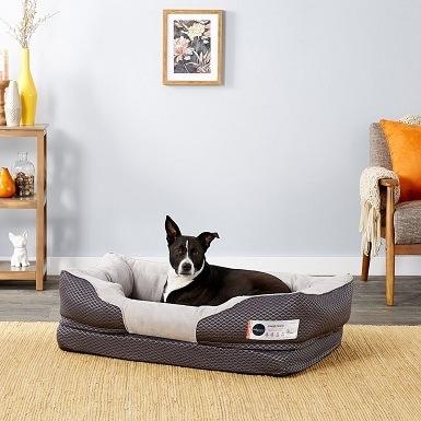 3BarksBar Snuggly Sleeper Orthopedic Bolster Dog Bed wRemovable Cover
