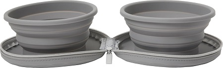 3Frisco Travel Collapsible Silicone Dog & Cat Bowl