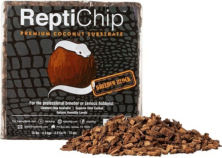 3ReptiChip Compressed Coconut Chip Substrate for Reptiles 72 Quart Coco Chips Brick Bedding