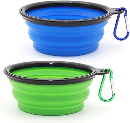 4SLSON Collapsible Dog Bowl, 2 Pack Collapsible Dog Water Bowls