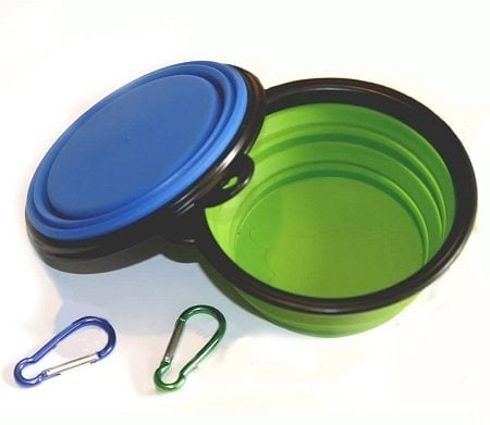 5COMSUN Collapsible Dog Bowl, Foldable Expandable Cup